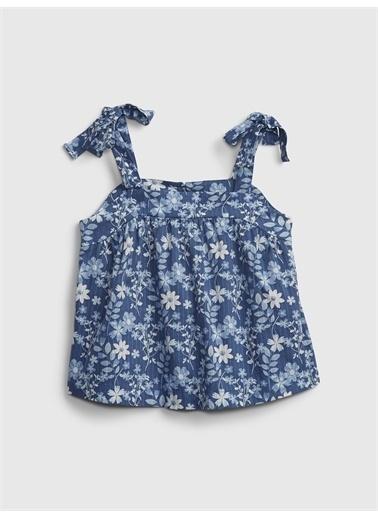Gap Çiçek Desenli Bluz Mavi